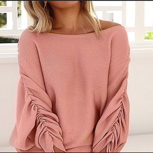Tops - Draw String Long Sleeve Top